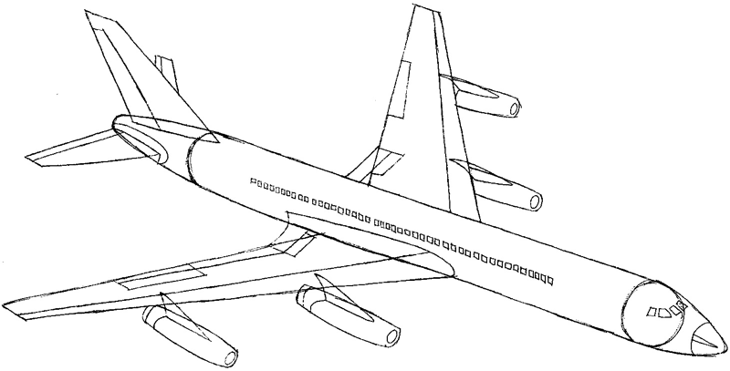 How to Draw an Airplane with Easy Step by Step Drawing Tutorial ...