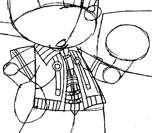 Step 10 : Drawing King Mickey from Kingdom Hearts Easy Steps Lesson