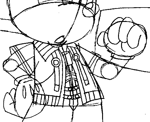 Step 11 : Drawing King Mickey from Kingdom Hearts Easy Steps Lesson