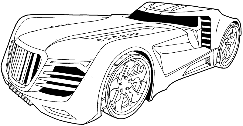How to draw the Reverb from Hot Wheels' Battle Force 5 with easy step by step drawing tutorial