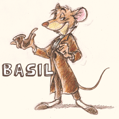 How to draw Basil from The Great Mouse Detective with easy step by step drawing tutorial