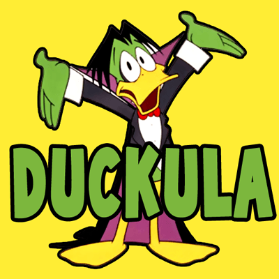How to draw Duckula from Count Duckula with easy step by step drawing tutorial