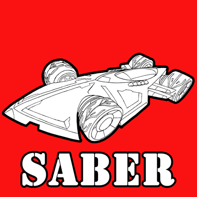 How to draw the Saber from Hot Wheels Battle Force 5 with easy step by step drawing tutorial