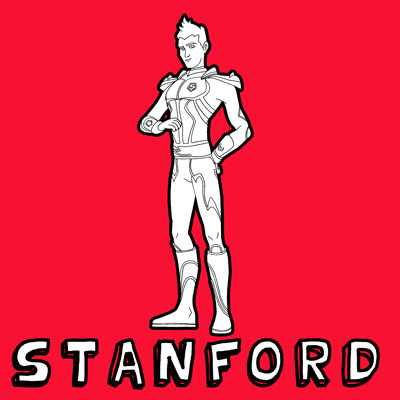 How to draw Stanford from Hot Wheels Battle Force 5 with easy step by step drawing tutorial