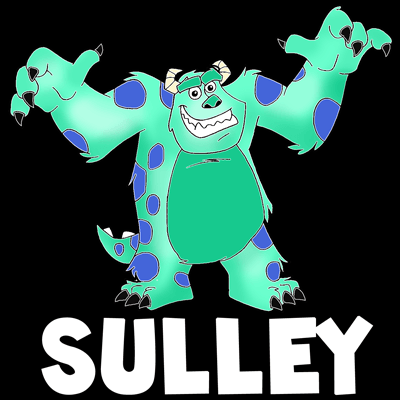 How To Draw Sulley From Monsters Inc With Easy Step By Step Drawing
