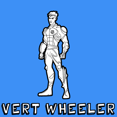 How to draw Vert Wheeler from Hot Wheels Battle Force 5 with easy step by step drawing tutorial