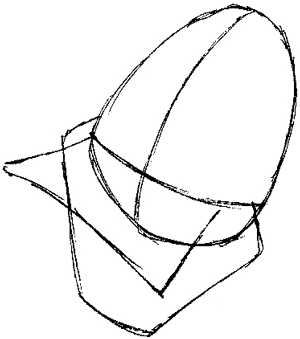 Step 2 : Drawing Duckula from Count Duckula Me Easy Steps Lesson