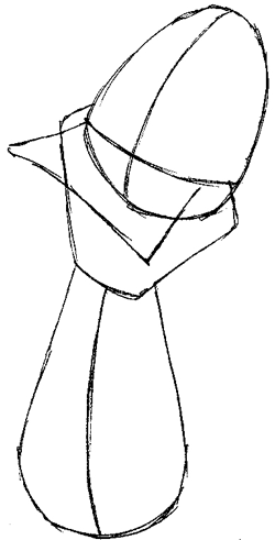 Step 3 : Drawing Duckula from Count Duckula Me Easy Steps Lesson