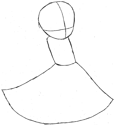 Step 3 : Drawing Imo Magician from World of Magic Easy Steps Lesson