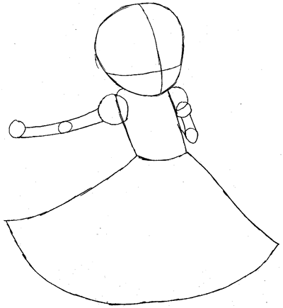 Step 4 : Drawing Imo Magician from World of Magic Easy Steps Lesson