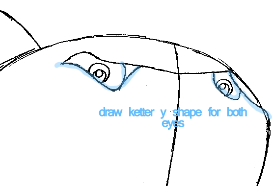 Step 5.2 : Drawing Bruce from Finding Nemo Easy Steps Lesson