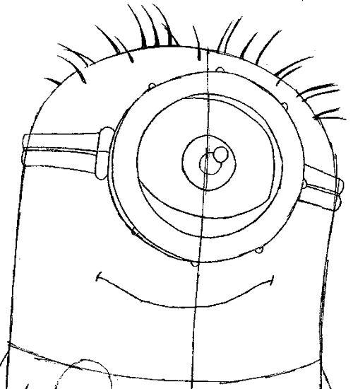 Step 6 : Drawing Tim the Minion from Despicable Me Easy Steps Lesson