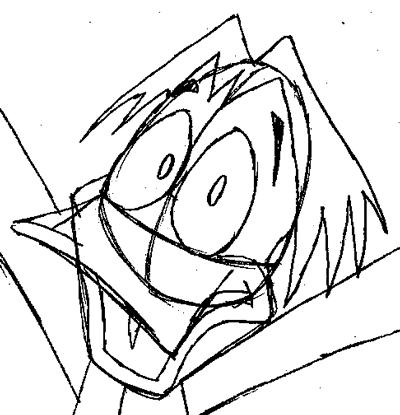 Step 7 : Drawing Duckula from Count Duckula Me Easy Steps Lesson