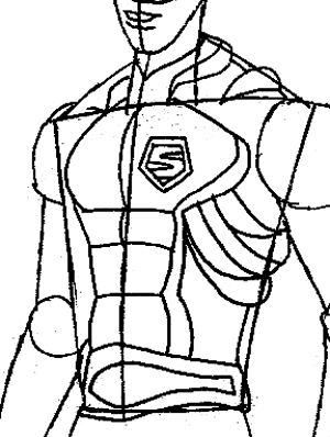 Step 8 : Drawing Vert Wheeler from Hot Wheels Battle Force 5 Easy Steps Lesson