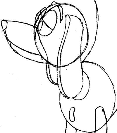 Step 9 : Drawing Slinky Dog from Toy Story Easy Steps Lesson