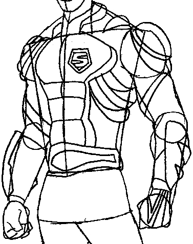 Step 9 : Drawing Vert Wheeler from Hot Wheels Battle Force 5 Easy Steps Lesson