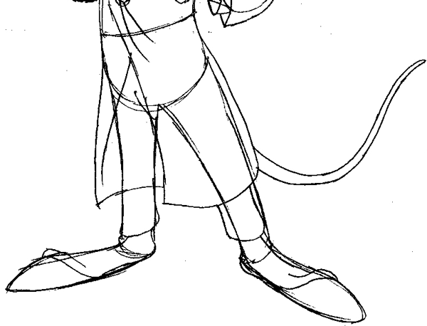 step 9 drawing basil from the great mouse detective easy steps lesson