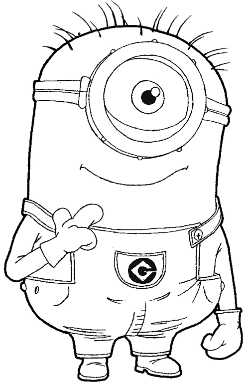 Step 9 : Drawing Tim the Minion from Despicable Me Easy Steps Lesson