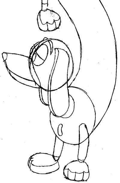 Step 10 : Drawing Slinky Dog from Toy Story Easy Steps Lesson