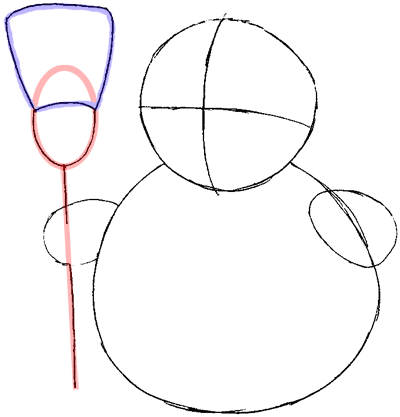 Step 4 : Drawing Snowman Easy Steps Lesson