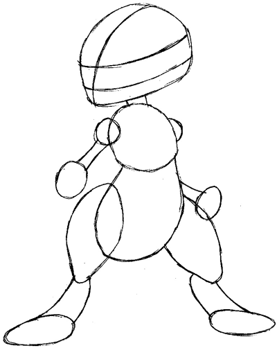 Step 5 : Drawing Mewtwo from Pokemon Easy Steps Lesson