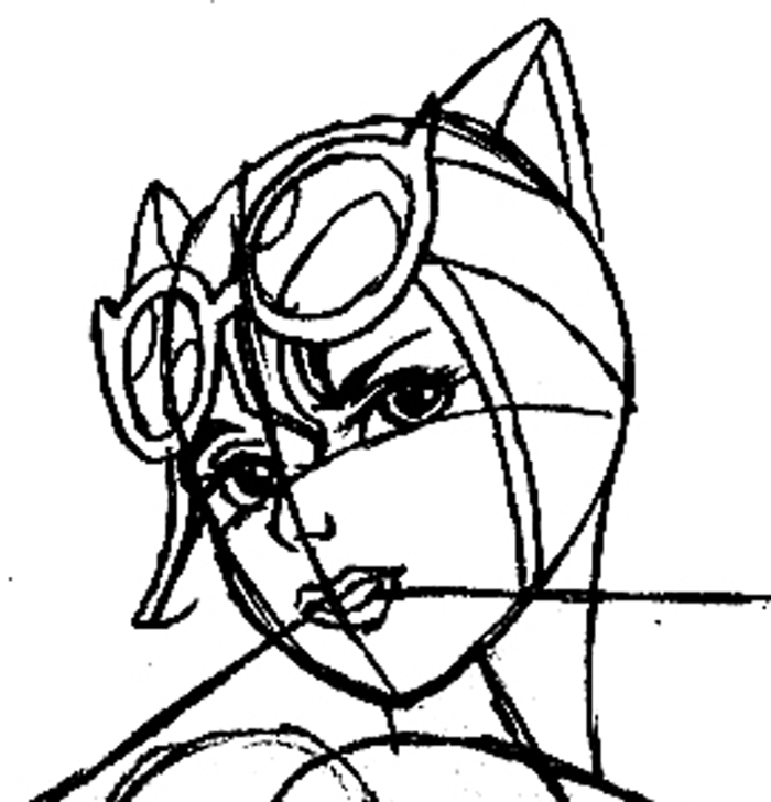 Step 8 : Drawing Catwoman Easy Steps Lesson