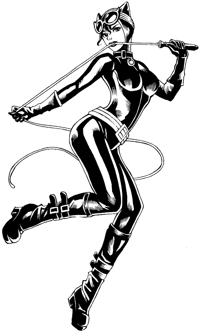 How to draw dc comics catwoman with easy step by step - Catwoman coloriage ...