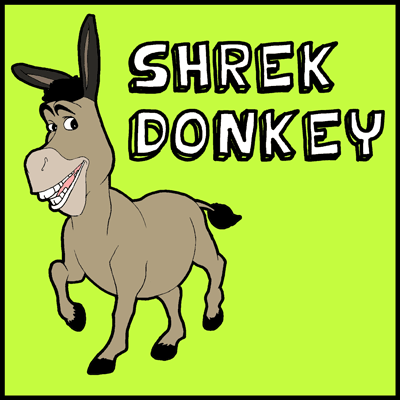 How to draw Donkey from Shrek with easy step by step drawing tutorial
