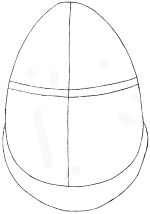 Step 2 : Drawing Humpty Dumpty from Puss In Boots Easy Steps Lesson