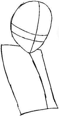 Step 2 : Drawing Tsuna from Katekyo Hitman Reborn Easy Steps Lesson