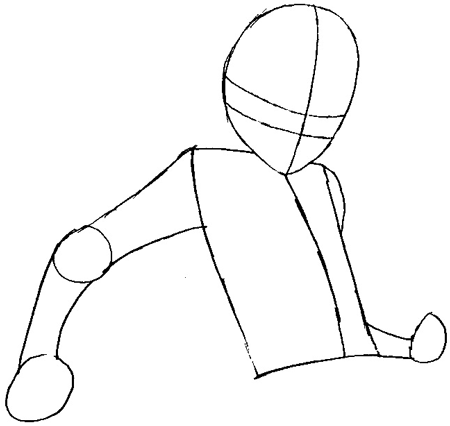 Step 3 : Drawing Tsuna from Katekyo Hitman Reborn Easy Steps Lesson