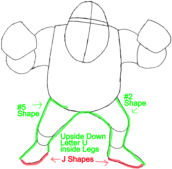 Step 4 : Drawing Shrek from Shrek Easy Steps Lesson