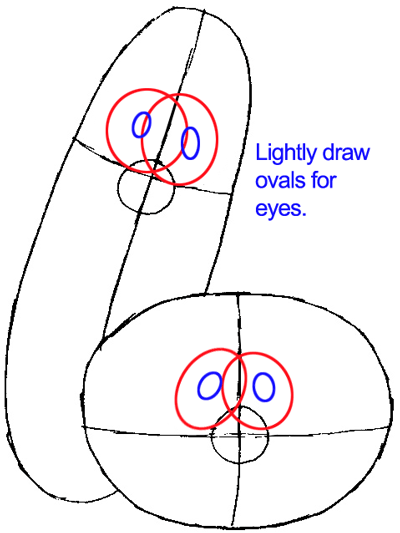 Step 4a : Drawing Bob and Larry from Veggietales Easy Steps Lesson