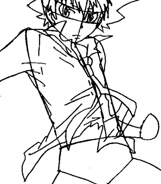 Step 7 : Drawing Tsuna from Katekyo Hitman Reborn Easy Steps Lesson