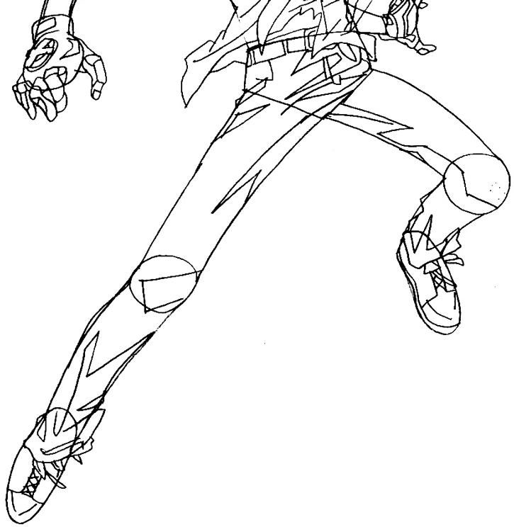 Step 9 : Drawing Tsuna from Katekyo Hitman Reborn Easy Steps Lesson