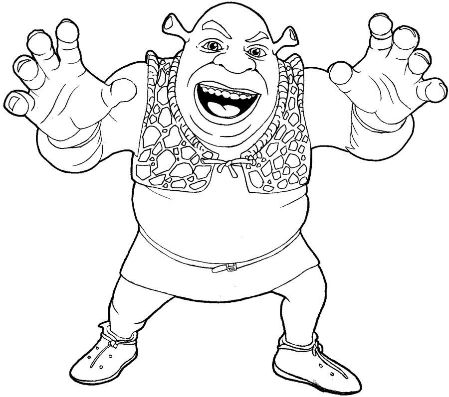 How to draw Shrek from Shrek with easy step by step drawing tutorial