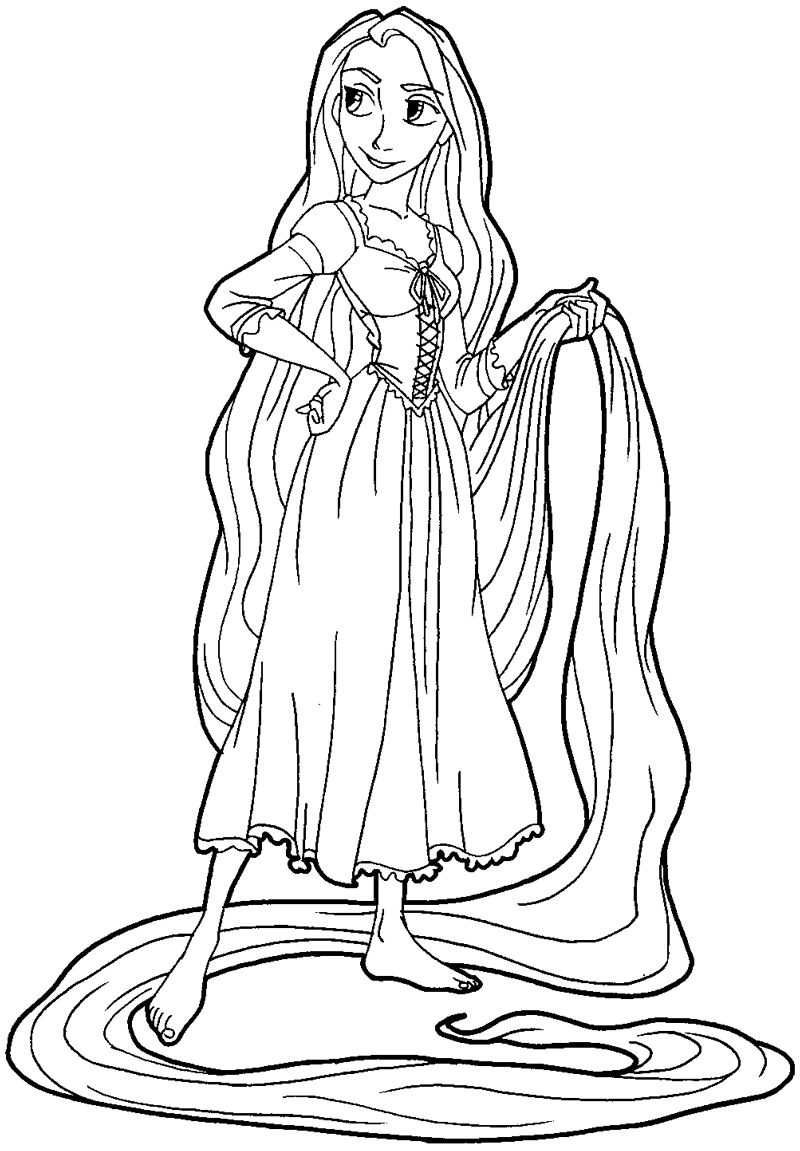 Mother gothel coloring pages