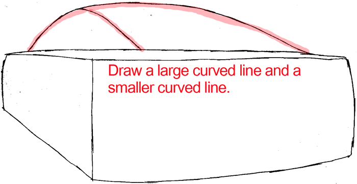 Step 2 : Drawing The Back of a Car Easy Steps Lesson