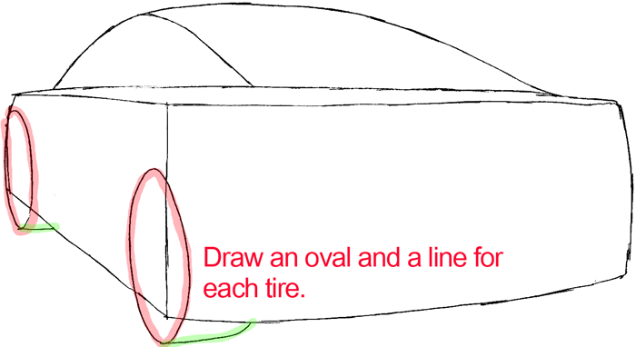 How To Draw The Back Of A Car With Easy Step By Step Drawing