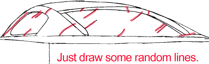 Step 4b : Drawing The Back of a Car Easy Steps Lesson