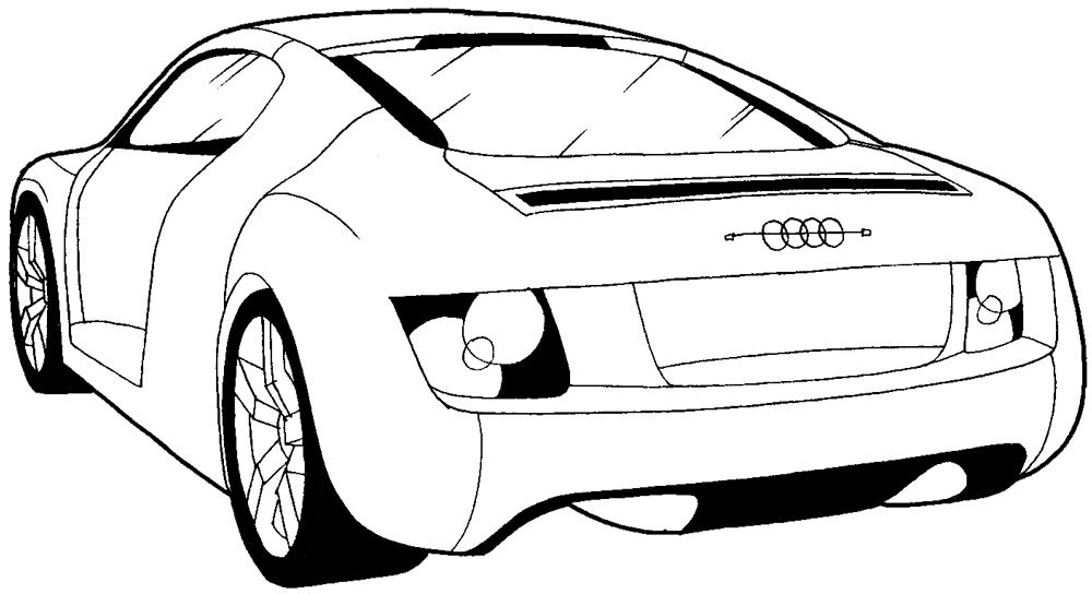 How To Draw The Back Of A Car With Easy Step By Step Drawing - Audi car drawing