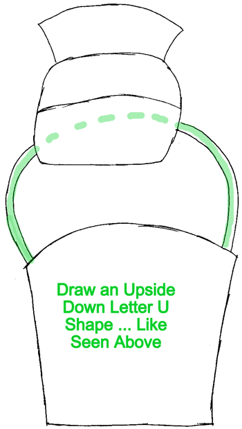 Step 4 : Drawing Plankton's Chum Bucket from Spongebob Squarepants Easy Steps Lesson