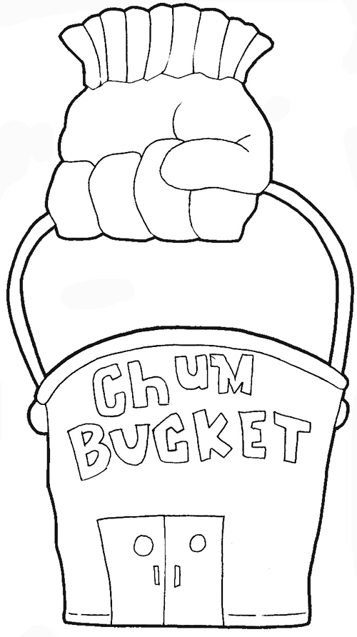 How to Draw Plankton s Chum Bucket