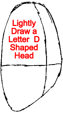 Step 1 : Drawing Fry from Futurama Easy Steps Lesson