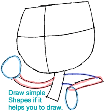 Step 3 : Drawing Jimmy from Jimmy Two Shoes Easy Steps Lesson