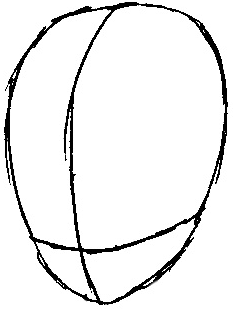 Step 1 : Drawing Videl from Dragonball Z Easy Steps Lesson