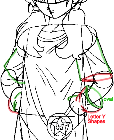 Step 8 : Drawing Videl from Dragonball Z Easy Steps Lesson