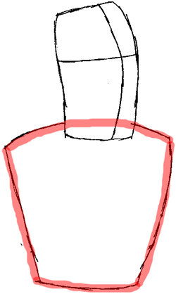 Step 2 : Drawing Captain Zapp Brannigan from Futurama Easy Steps Lesson
