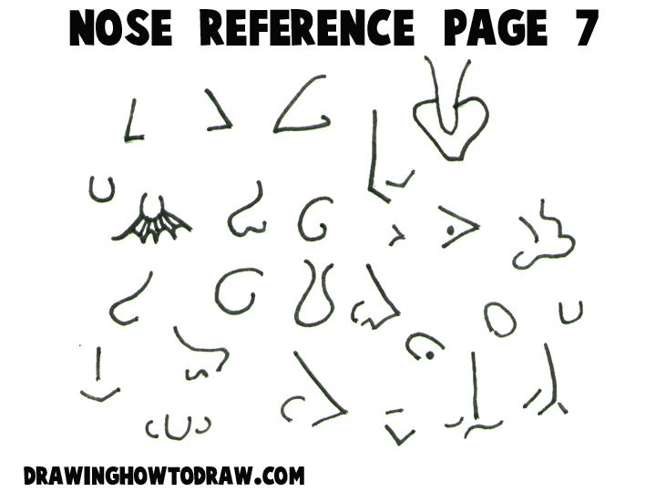 how to draw disney nose