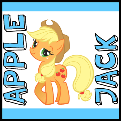 How to draw Apple Jack from My Little Pony with easy step by step drawing tutorial